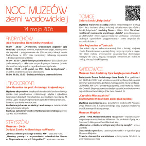 Noc Muzeów 2016 - program (2)