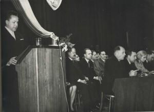 Inauguracja obchodów 1000 lecia PP na uroczystej sesji powiatowej luty1966