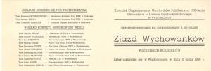 zaproszenie na zjazd wychowankó 2 lipca 1966