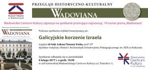 Zaproszenie, promocja Wadovian, 6.02.2017