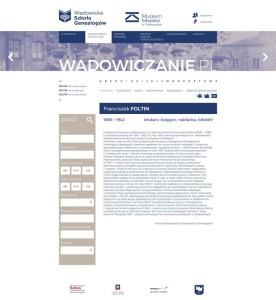 Projekt graficzny portalu wadowiczanie.pl (biogram i wyszukiwarka)