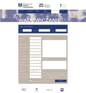 Projekt graficzny portalu wadowiczanie.pl (formularz zgłoszeniowy)