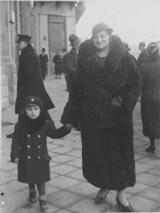 Zofia Foltin, synowa Franciszka z synem Tadeuszem